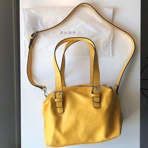 Zara Faux Leather Satchel/Crossbody